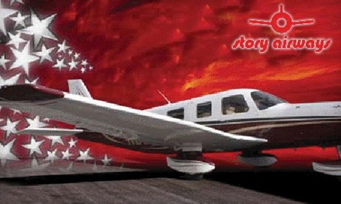"""Story Airways - Henderson: $139 per Passenger for a """"Sleigh Ride"""" Flight Over the Las Vegas Strip From Story Airways ($375 Value)"""