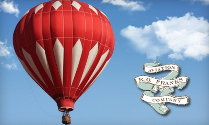 R.O. Franks Aviation Company - Downtown Ashville: $125 for Up to a One-Hour Hot Air Balloon Ride from R.O. Franks Aviation Company in Asheville ($250 Value)