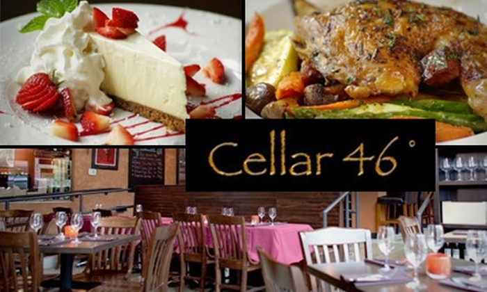 Cellar 46° - Mercer Island: $10 for $25 Worth of Wining and Dining at Cellar 46°