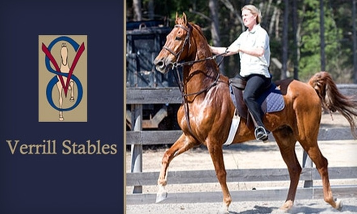 Verrill Stables - Boston: $40 for a One-Hour Private or Group Horse-Riding Lesson at Verrill Stables (Up to $90 Value)