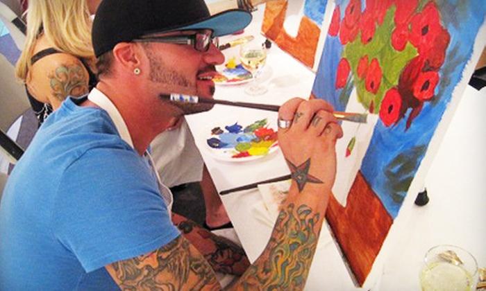 Art of Merlot - Downtown Scottsdale: $45 for a BYOB Art Class for Two at Art of Merlot in Scottsdale ($90 Value)