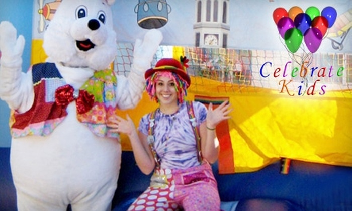 Celebrate Kids - Summerlin: $49 for an All-Day Bounce House Rental or One Hour  of Clown Entertainment, Face Painting, Magic, and Balloon Art from Celebrate Kids (Up to $115 Value)