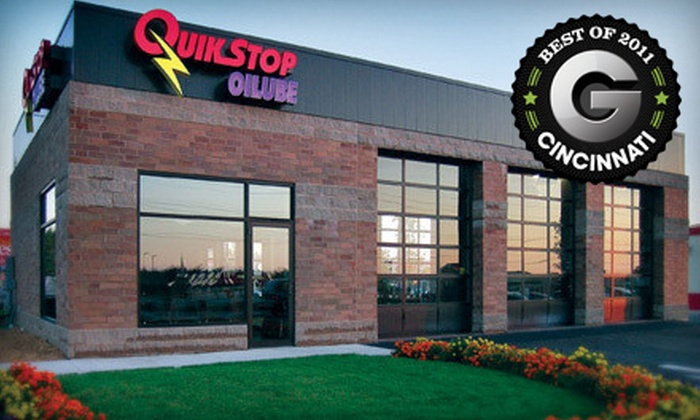 QuikStop Oilube - Multiple Locations: Full-Service Oil Change or Full-Service Oil Change with Tire Rotation at QuikStop Oilube (51% Off)
