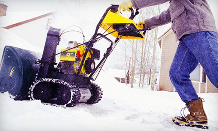 Curb Appeal Design - Morris Plains: One or Three Driveway Snow-Removal Services by Curb Appeal Design (Up to 63% Off)