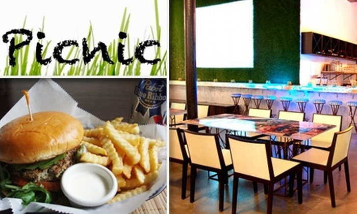 Picnic Miami - Bayshore: $7 for $15 Worth of American Bistro Cuisine and Drinks at Picnic Miami