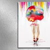 """22""""x22"""" or 24""""x18"""" Vibrant Watercolor Art on Gallery-Wrapped Canvas"""