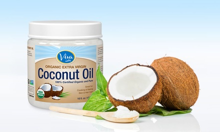 2-Pack of 16oz. Viva Labs Extra-Virgin Coconut Oil