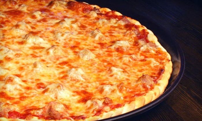 Serino's Pizzeria and Pub - Roselle: One or Two 14-Inch, Two-Topping Pizzas with Salad at Serino's Pizzeria and Pub (Up to 55% Off)