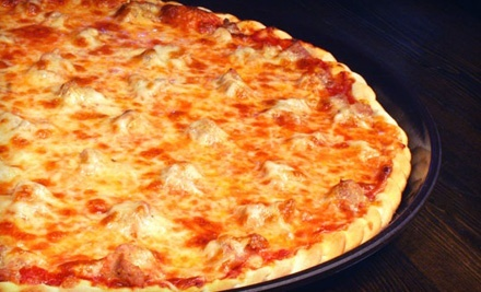 One or Two 14-Inch, Two-Topping Pizzas with Salad at Serino's Pizzeria and Pub (Up to 55% Off)