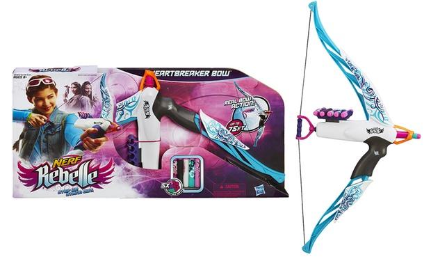 Balestre, archi e pistole giocattolo Nerf per lui e lei. Vari modelli disponibili da 9,99 € a 37,99 €