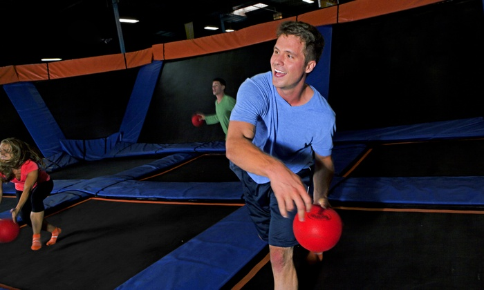 Sky Zone - Boston - Boston: Two 60-Minute Open Jumps or Admission to Saturday Night SkyJam at Sky Zone Boston (Up to 41% Off)
