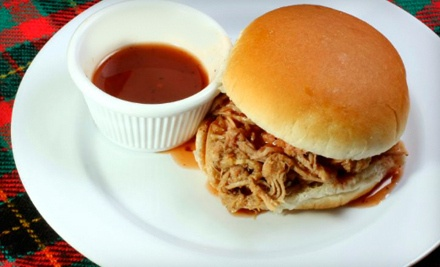 2 Pulled-Pork or Pulled-Chicken Sandwiches, Served with 2 Sides (a $20 value) - Britt's BBQ in El Segundo