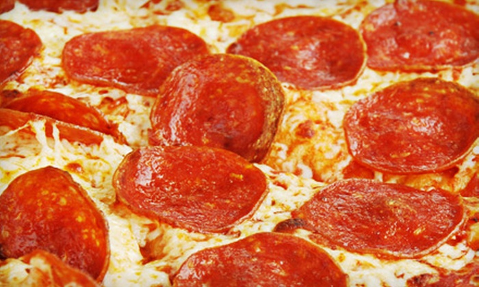 My NY Pizza - West End: $11 for One-Topping Pizza, Salad, and Garlic Bread at My NY Pizza in Fontana ($23.25 Value)