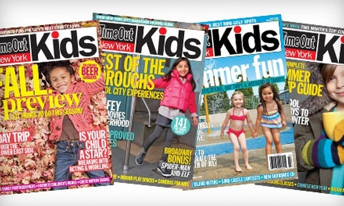 """Time Out New York Kids: $10 for a Two-Year Subscription to """"Time Out New York Kids"""" ($20 Value)"""