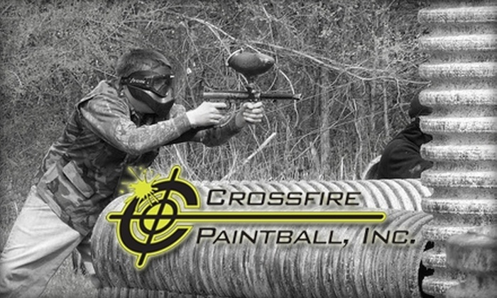 Crossfire Paintball - Sioux Falls: $22 for Admission to Sunday Open Play, Gear Rental, and 500 Rounds from Crossfire Paintball
