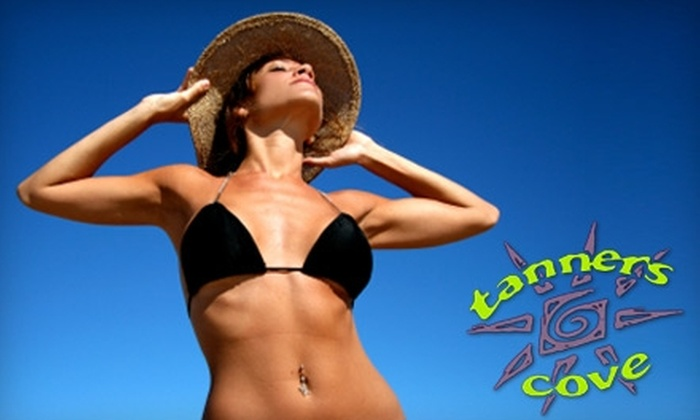 Tanners Cove - Multiple Locations: $21 for One-Month Unlimited Tanning Membership ($60 Value) or $30 for Level-Two Airbrush Session ($60 Value) at Tanners Cove