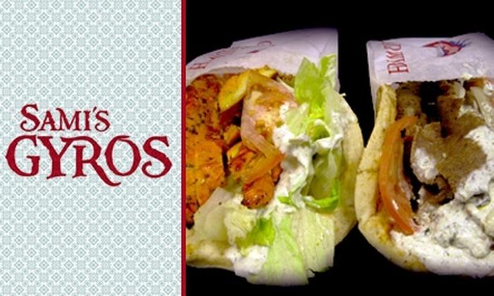 Sami's Gyros - Tempe: $10 for $25 Worth of Mediterranean Eats at Sami's Gyros