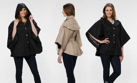 groupon daily deal - Betsey Johnson Belted Cape (Up to 79% Off). 5 Colors Available. Free Shipping and Returns.