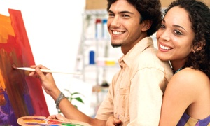 Art School # 99: $59 for a BYOB Couples' Painting Workshop at Art School # 99 ($120 Value)