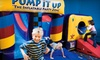 Pump It Up - Multiple Locations: Five or Ten Play Visits at Pump It Up Junior (Up to 64% Off)