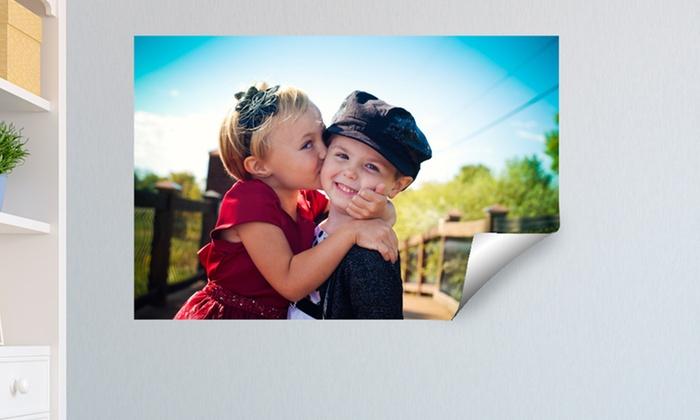 """MailPix: One Custom 12""""x18"""", 16""""x20"""", or 12""""x36"""" Peel-and-Stick Adhesive Print from MailPix (Up to 81% Off)"""