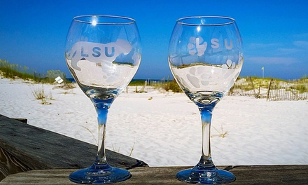 BYOB Wine Glass Etching Class for One or Two at Create Studios (Up to 49% Off)