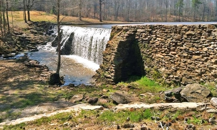 """Elders Mill Road Waterfall and Campsite - Senoia: """"Walking Dead"""" & """"Lawless"""" Filming-Scene Tour for 2 or 4 at Elders Mill Rd. Waterfall & Campsite (Up to 51% Off)"""