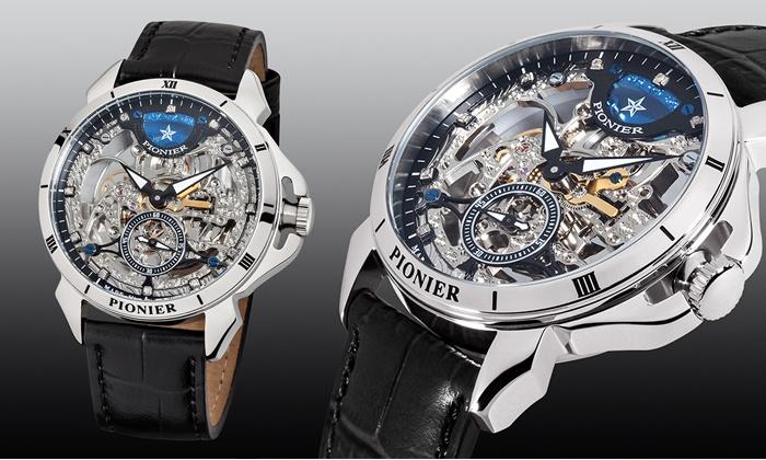 Wonderbaarlijk PIONIER horloge met 12 diamanten | Groupon Goods GF-57