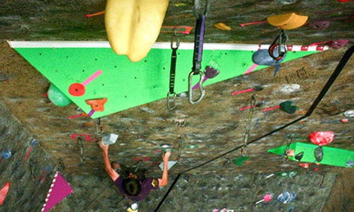 Rocks & Ropes and The Bloc climbing + fitness - Multiple Locations: Rock-Climbing Outing or Three-Month Membership at Rocks & Ropes and The Bloc climbing + fitness (Up to 51% Off)