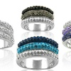 Crystal Ombre Ring Made with Swarovski Elements