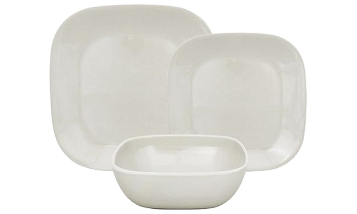 12-Piece Square Melamine Dinnerware Set  sc 1 st  Groupon & 12-Piece Square Melamine Dinnerware Set | Groupon