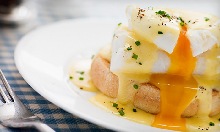 Khoury's Restaurant - Belmont Shore: Sunday Brunch with Unlimited Champagne for Two or Four at Khoury's Restaurant (Up to 51% Off)