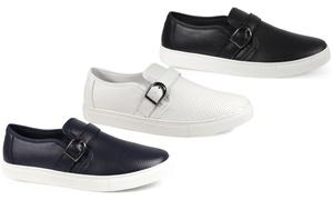 Steve Harvey Men's Buckle Slip-On Sneakers