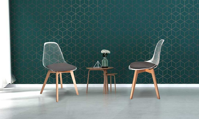 jusqu 39 69 chaises scandinaves transparentes groupon. Black Bedroom Furniture Sets. Home Design Ideas