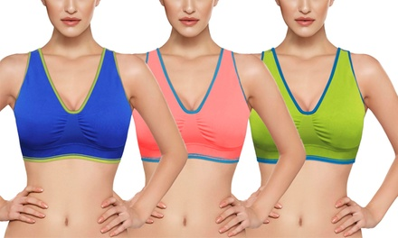 High-Impact Pilates Sports Bras (3-Pack)