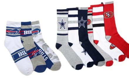6-Pack of Men's NFL Team-Color Quarter or Crew Socks from $16.99–$18.99
