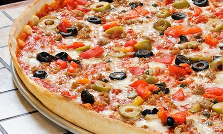 Pizza and Drinks for Two or Four at Rizzo's Fine Pizza (Up to 54% Off)