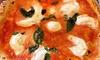Menu con pizza e primi napoletani