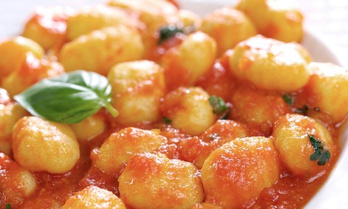 La Trattoria D'Italia Ristorante - Highland Park: Dinner with Pasta Entree, 12-Inch Pizza, Caesar Salad, and Tiramisu at La Trattoria D'Italia (Up to 43% Off)