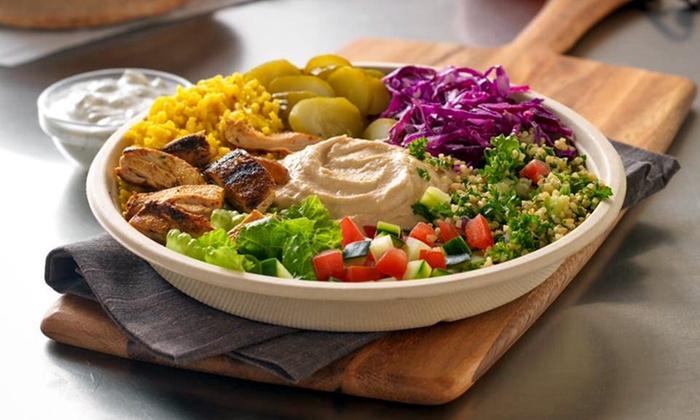 Garbanzo Mediterranean Grill - Houston - Memorial: Mediterranean Meal for Two at Garbanzo Mediterranean Grill. Valid Saturday and Sunday. (41% Off)