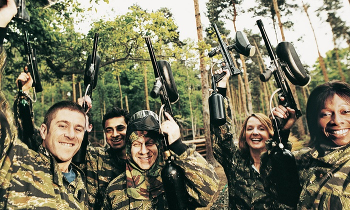 Full or Half Day Paintballing for Up to Ten from £4 at Southcoast