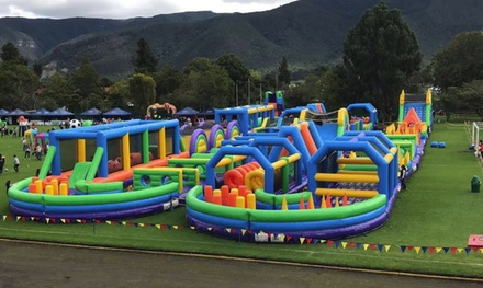 $35 for Inflatable World Entry on Chosen Date with Tuff Nutterz Inflatable World, Two Locations Up to $45 Value