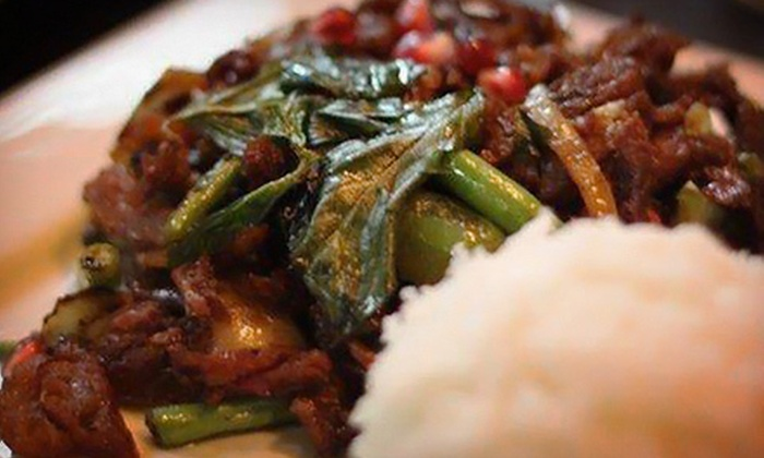 Lotus Thai Cuisine - Guttenberg: $22 for a Thai Dinner for Two with One Appetizer and Two Entrees at Lotus Thai Cuisine (Up to $47.85 Value)