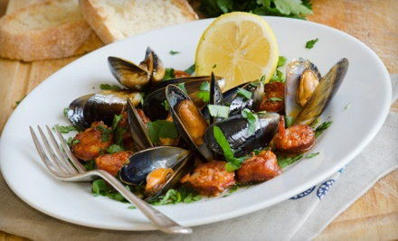 Italian Cuisine at DeAngelo's By the Sea (Half Off). Two Options Available.