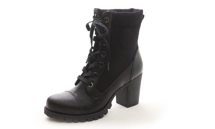 XOXO Cade Women\u0027s Heeled Combat Boot