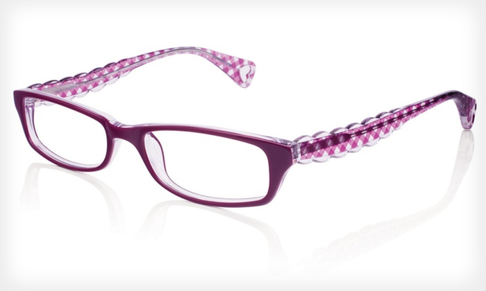 Go Go Gingham Frames: $39 for Go Go Gingham Optical Frames by Betsey Johnson ($195 List Price). Two Colors Available.