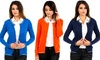 Women's Cotton Crew-Neck Button-Down Cardigan: Women's Cotton Crew-Neck Button-Down Cardigan
