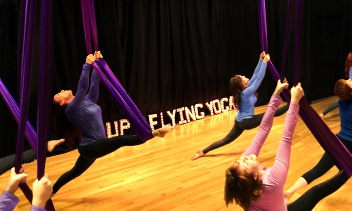 UP Flying Yoga - Studio City: Aerial Yoga Party for Up to Seven or Four Aerial Yoga Classes at UP Flying Yoga (Up to 59% Off)