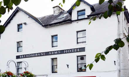 Perth and Kinross: Up to 3 Nights for Two with Breakfast and Tea and Cakes on Arrival at The Breadalbane Arms Hotel