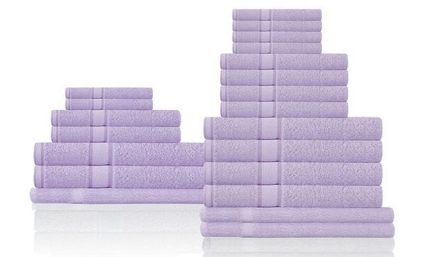 100 cotton bath towel pack groupon goods. Black Bedroom Furniture Sets. Home Design Ideas